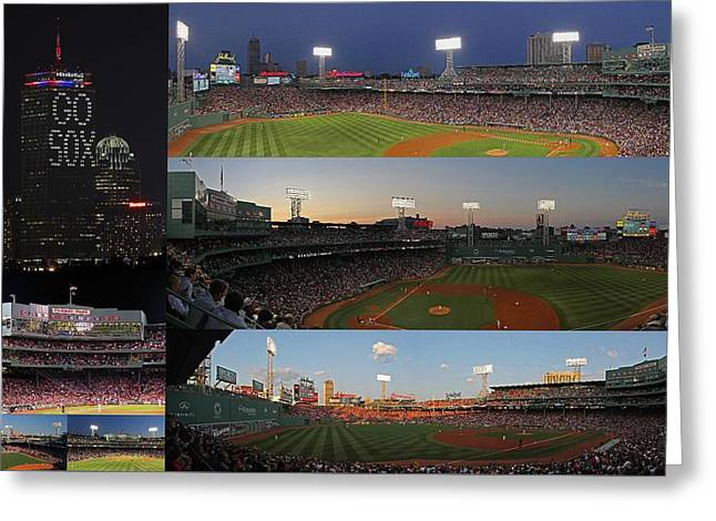 Fenway Park Greeting Cards - Boston Fenway Park and Red Sox Gift Ideas Greeting Card by Juergen Roth
