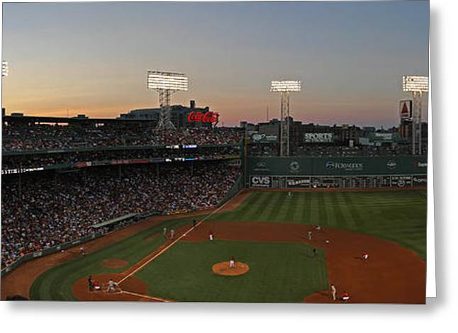 Fenway Park Greeting Cards - Boston Fenway Park Sunset Greeting Card by Juergen Roth
