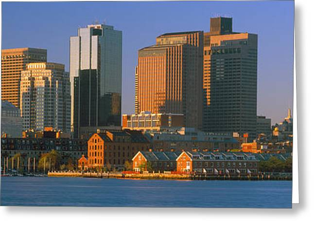 U.s. Capitol Greeting Cards - Boston Harbor From South Boston Greeting Card by Panoramic Images