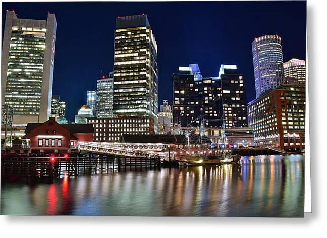 Boston Harbor Tea Party Greeting Card by Frozen in Time Fine Art Photography