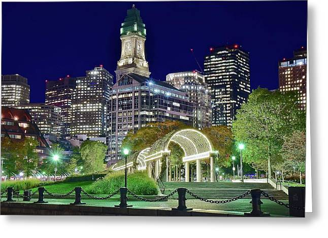 Boston In The Park Greeting Card by Frozen in Time Fine Art Photography