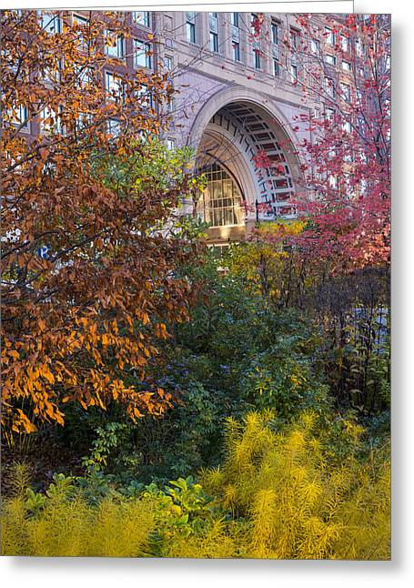 Boston Ma Autumn Foliage Greeting Card by Toby McGuire