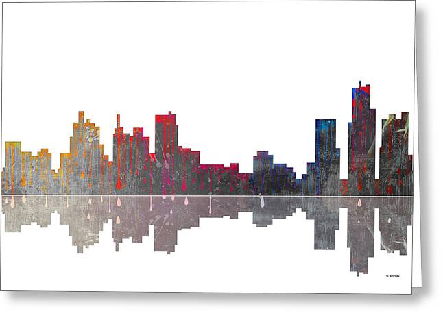 Boston Mass Greeting Cards - Boston Massachusetts Skyline Greeting Card by Marlene Watson