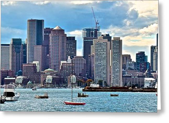 Boston Panorama Greeting Card by Frozen in Time Fine Art Photography