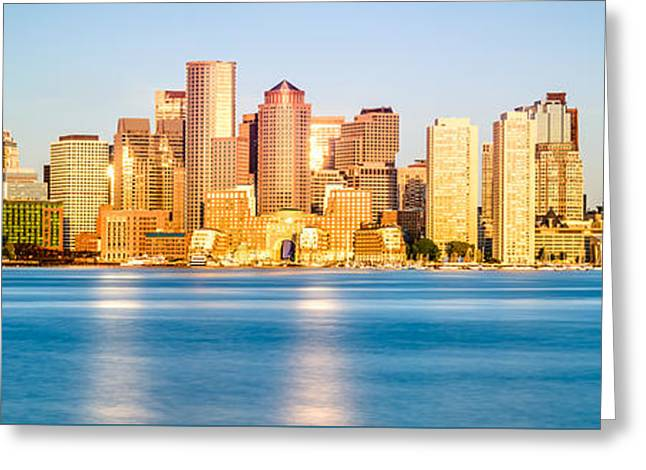 Boston Panoramic Skyline Picture Greeting Card by Paul Velgos