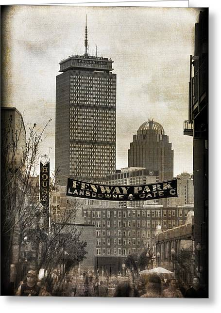 Boston Red Sox - Fenway Park - Lansdowne St. Greeting Card by Joann Vitali