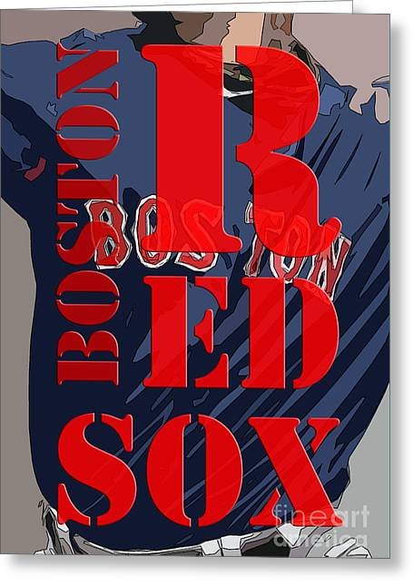 Boston Red Sox  Greeting Card by Pablo Franchi