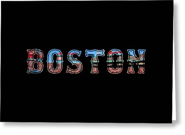 Fenway Park Greeting Cards - Boston Red Sox Poster Greeting Card by Joann Vitali