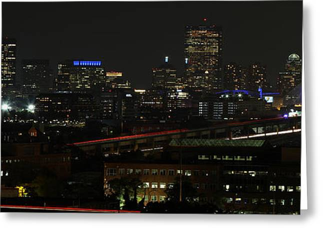 Boston Skyline View From Chelsea  Greeting Card by Juergen Roth