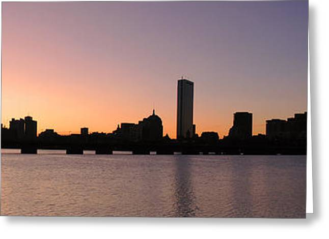 Charles River Greeting Cards - Boston Skyline Greeting Card by Juergen Roth