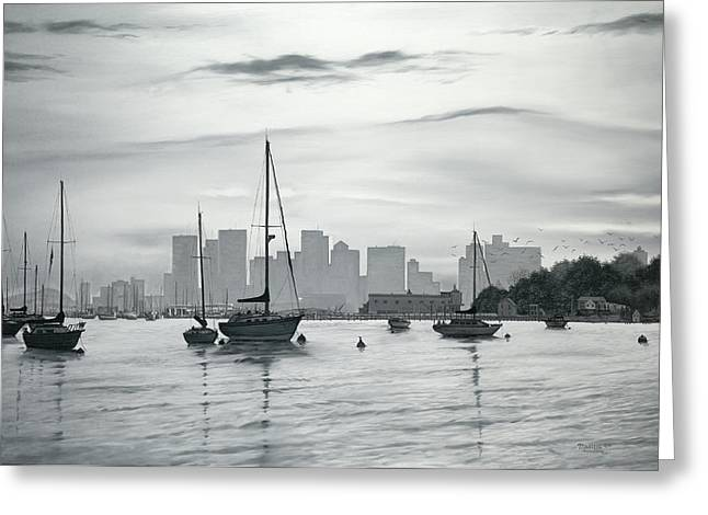 Boston Skyline  Greeting Card by Matthew Martelli