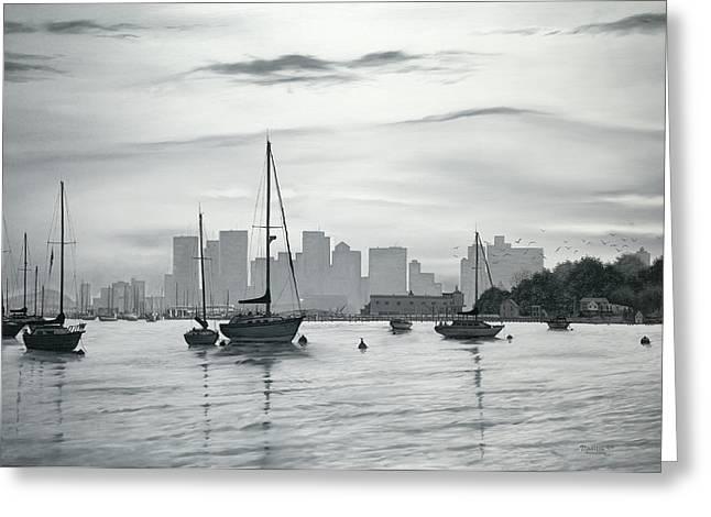Boston Skyline  Greeting Card by Matthew Martelli