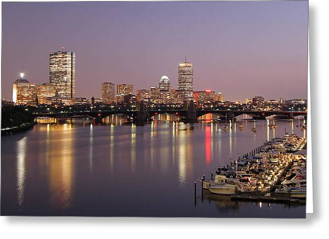 Boston Photos Greeting Cards - Boston Skyline Photography Greeting Card by Juergen Roth