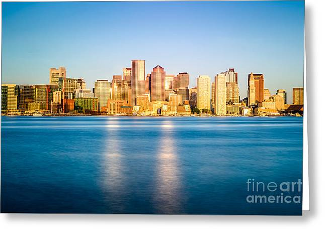 Boston Skyline Picture Greeting Card by Paul Velgos
