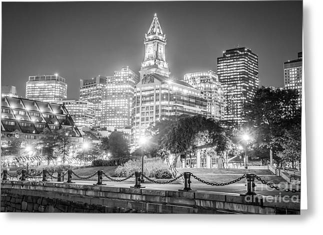 Boston Skyline With Christopher Columbus Park Greeting Card by Paul Velgos