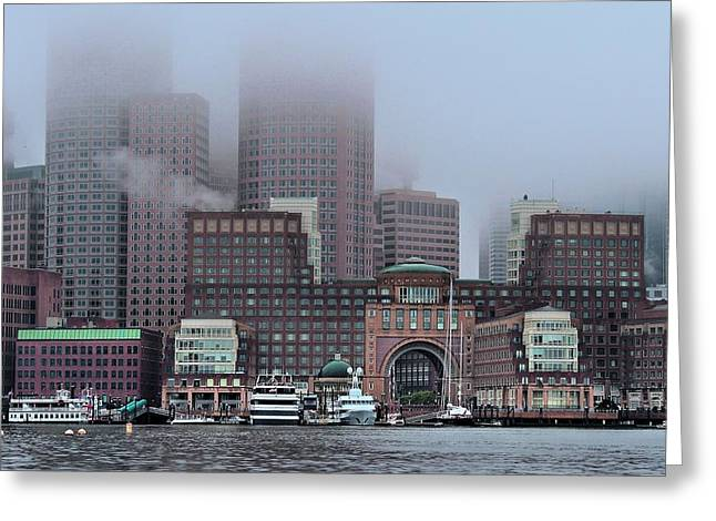Boats In Harbor Greeting Cards - Boston Soxed In Greeting Card by Laura Ragland