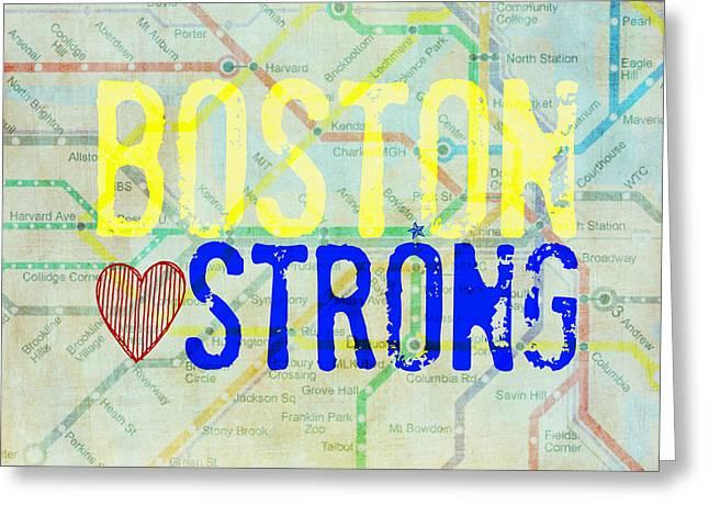 Boston Strong V2 Greeting Card by Brandi Fitzgerald