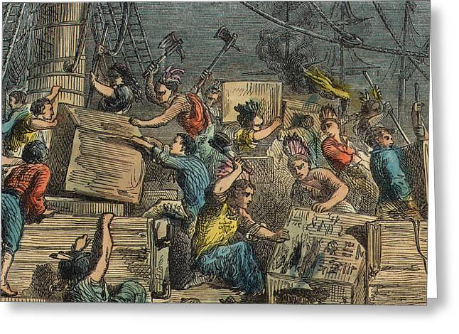 Boston Tea Party Greeting Card by American School
