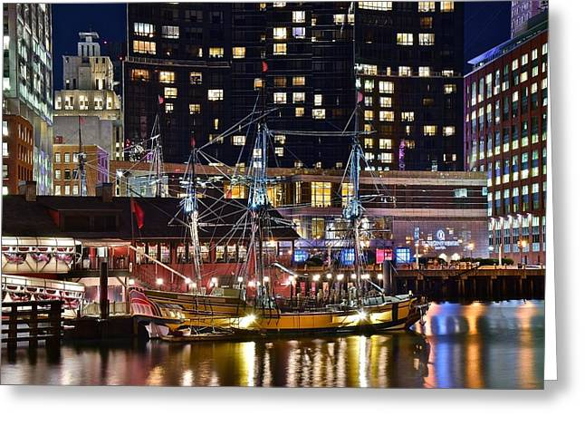 Boston Tea Party Greeting Card by Frozen in Time Fine Art Photography