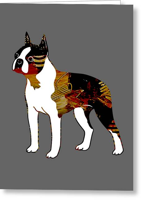 Boston Terrier Collection Greeting Card by Marvin Blaine
