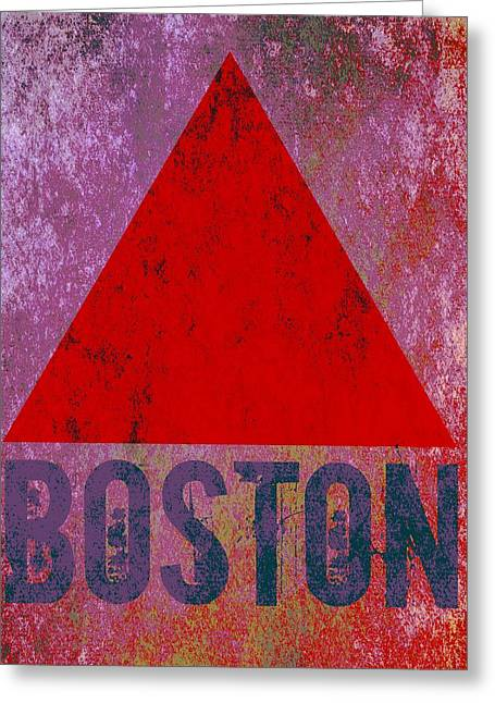 Boston Triangle Greeting Card by Brandi Fitzgerald