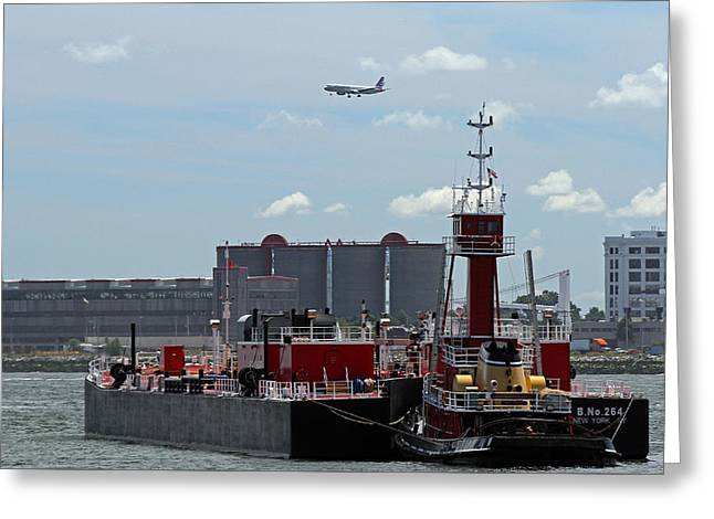 Boston Ma Greeting Cards - Boston Tugboat Greeting Card by Juergen Roth