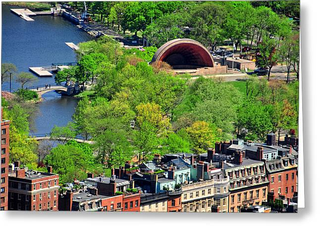 Boston Ma Greeting Cards - Bostons Esplanade Greeting Card by Mike Martin