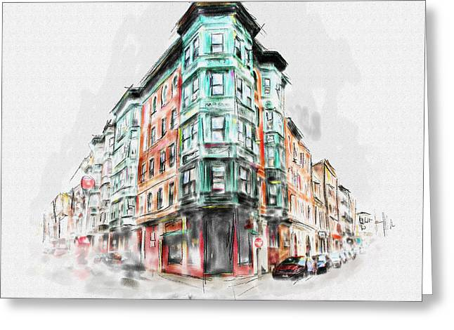 Bostons North End 222 1 Greeting Card by Mawra Tahreem