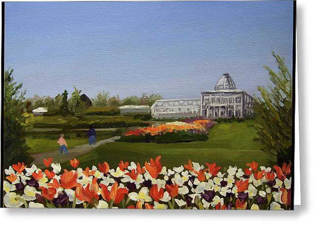 Edward Williams Greeting Cards - Botanical Garden-Lewis Ginter Greeting Card by Edward Williams