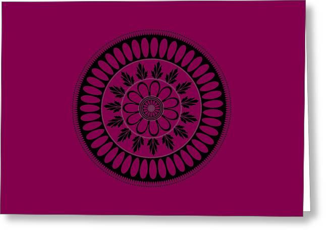 Botanical Ornament Greeting Card by Frank Tschakert