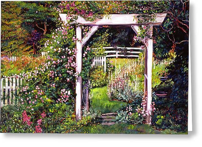 Path Greeting Cards - Botanical Paradise Greeting Card by David Lloyd Glover