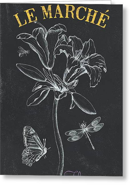 Botanique 3 Greeting Card by Debbie DeWitt