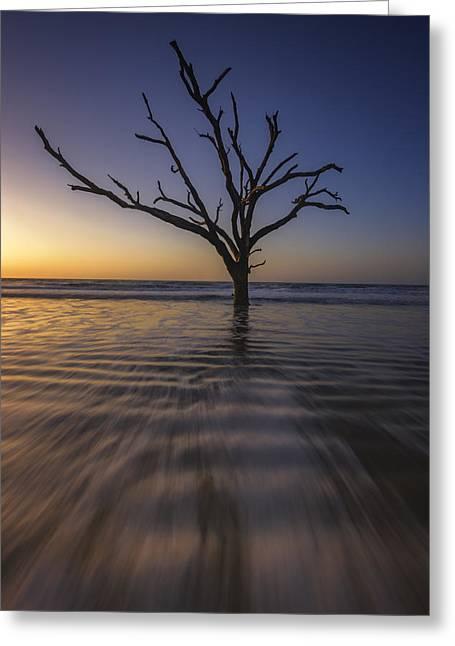 Botany Bay Morning Glow Greeting Card by Rick Berk