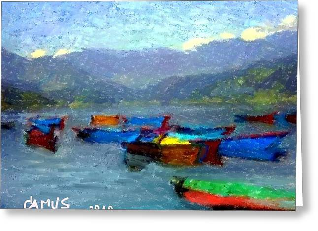 Owner Pastels Greeting Cards - Botes Greeting Card by Carlos Camus