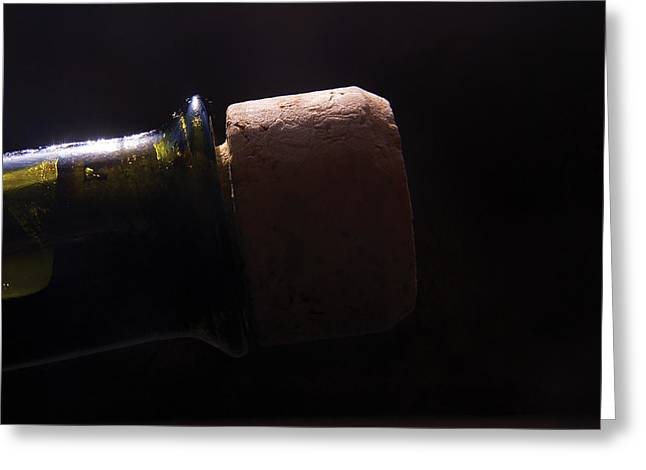 Wine-bottle Greeting Cards - bottle top and Cork Greeting Card by Steve Somerville