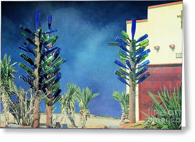 Slaves Greeting Cards - Bottle Trees x 3 Greeting Card by Janette Boyd