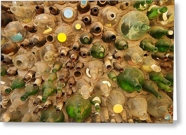 Glass Bottle Greeting Cards - Bottle Wall Greeting Card by Jeff  Swan
