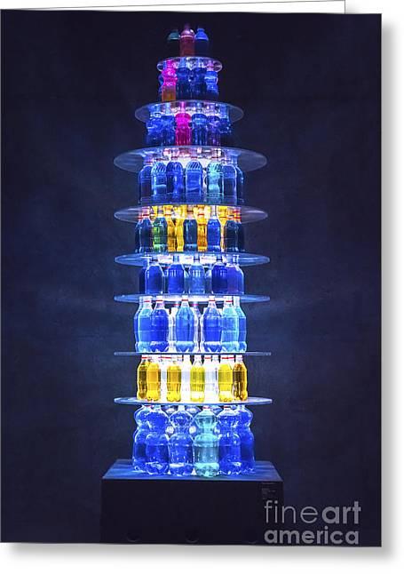 Bottles Display Greeting Card by Svetlana Sewell