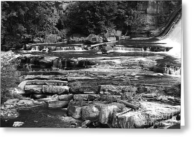 Saugerties Greeting Cards - Bottom of The Rock Falls Greeting Card by Cynthia Soroka-Dunn