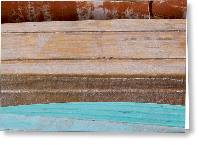 Wooden Ship Greeting Cards - Bottoms Up Greeting Card by Jacquie Gouveia