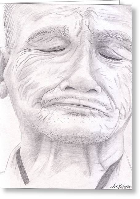 Pencil Art Greeting Cards - Bou Meng Greeting Card by Jose Valeriano