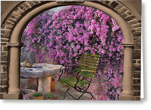 Tor Greeting Cards - Bougainvillea 3 Greeting Card by Manfred Lutzius