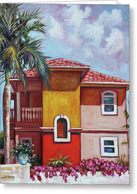 Bougainvillea Villa Greeting Card by Eve  Wheeler