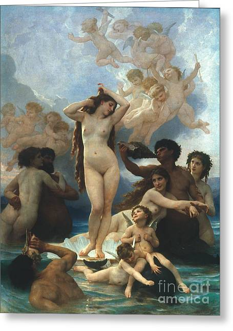 1879 Greeting Cards - Bouguereau: Birth Of Venus Greeting Card by Granger