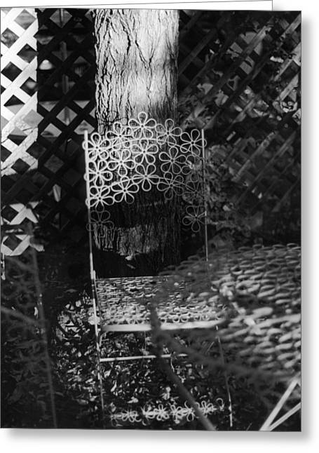 Patio Table And Chairs Photographs Greeting Cards - Boulder Cafe Greeting Card by Karin Kohlmeier