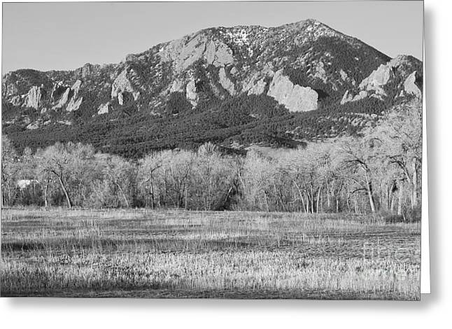 """landscape Photography Prints"" Greeting Cards - Boulder Colorado Flatiron View From Jay Rd BW Greeting Card by James BO  Insogna"
