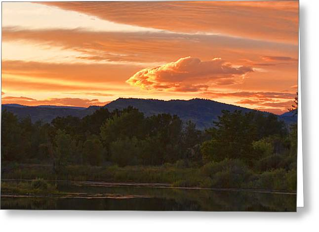 Boulder County Lake Sunset Vertical Image 06.26.2010 Greeting Card by James BO  Insogna