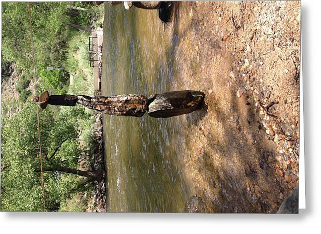 Balance Sculptures Greeting Cards - Boulder Stack #2 Greeting Card by Robert Edmonds