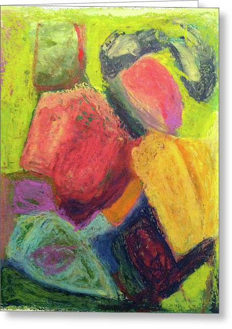Abstractions Pastels Greeting Cards - Boulder Greeting Card by Windy Noviardy