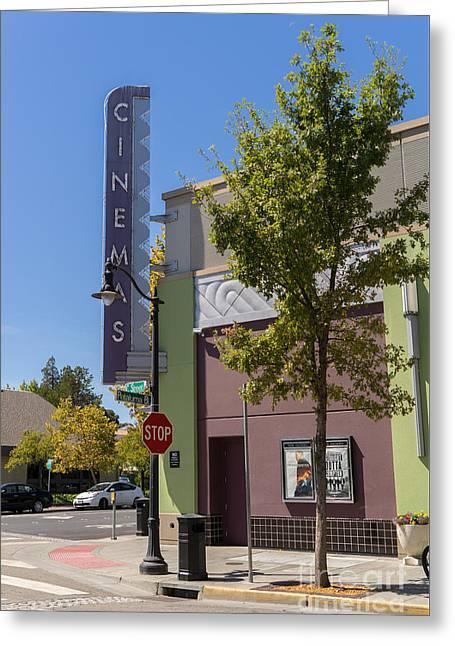 Boulevard Cinemas Theater In Petaluma California Usa Dsc3828 Greeting Card by Wingsdomain Art and Photography
